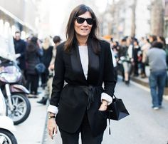 Emanuelle Alt swears by the Cartier Tank classic watch style | @andwhatelse