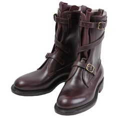 """Dehner """"Strap Tank Boot""""【Cordovan/calfskin】#Dehner Boots"""