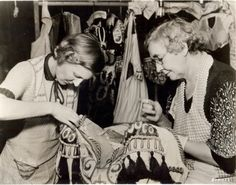 MGM seamstresses work on a costume for Romeo and Juliet, starring Norma Shearer and Leslie Howard. Some 1250 costumes were made for the 1936 production.