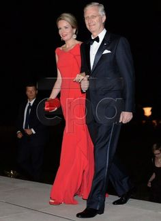 Reception Dinner: Queen Mathilde and King Philippe visit Poland