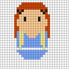 Sansa Stark - Game of Thrones Perler Bead Pattern