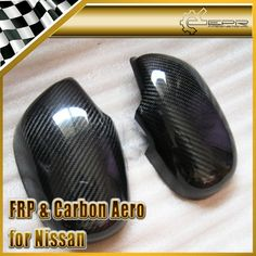 EPR Car Styling For Nissan Skyline R33 Carbon Fiber Mirror Cover Fiber Side Accessories Trim #Affiliate