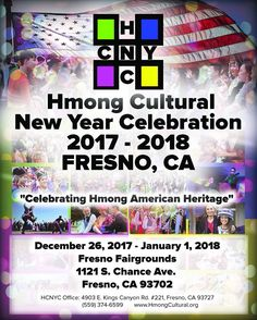 One full week of cultural fun and tradition begins Tues, 12/26/17 at the Fresno Fairgrounds to celebrate Hmong Cultural New Year! Join us daily from 8 a.m. to 5 p.m. through Mon, 1/1/18 as we celebrate with live entertainment, vendors and so much more. General entry is $5, for senior citizens, military, and disabled citizens it is $3 and children 5 yrs and under are free! Come celebrate and learn about the Hmong Culture!