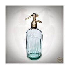 Vintage Seltzer Soda Siphon Bottle 1950s  Light by VintageMedreana, $54.00