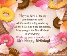 18th Happy Birthday Greeting Card