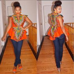 Fleeky dashiki. ~African fashion, Ankara, kitenge, African women dresses, African prints, African men's fashion, Nigerian style, Ghanaian fashion ~DKK