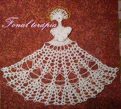 horgolt#karácsonyi#angyalka Crochet Doll Dress