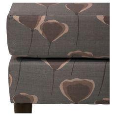 Benji Ottoman - Poppy Taupe - Skyline Furniture, Grey