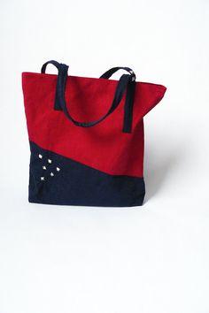 Cherry Red Navy Blue Bag for Women by BartekDesign by BartekDesign, €65.00