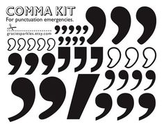 "$8.00 For @United Church of Christ friends and punctuation fanatics: my friend @Grace Dobush is selling her comma sticker sheets. What a great resource to have when you need to place a comma where life has otherwise placed a period.     ""Never place a period where God has placed a comma."" - - Gracie Allen"