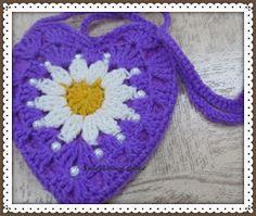 Sweet Nothings Crochet: TWO BEAUTIFUL HEART SHAPED BAGS