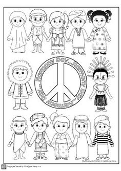 Harmony Day Teaching Resource Australia by TeachEzy Harmony Day Activities, Play School Activities, Book Activities, Activity Ideas, Japan For Kids, Flag Template, Culture Day, Easy Coloring Pages, Kids Around The World