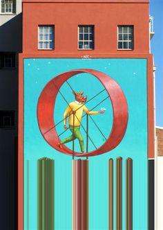 Street Art near the Salt River circle, Cape Town, South Africa Cape Town South Africa, Graffiti, Street Art, Salt, Clock, River, City, Decor, Watch