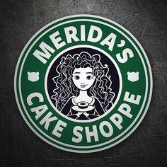 Pegatinas: Merida Cake Shoppe #starbucks #TeleAdhesivo #merida #brave