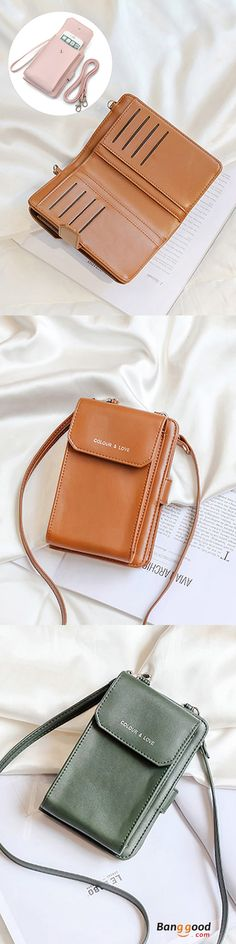 US$16.42+Free shipping.  Phone Bag, Wallet, Card Holder Purse, Color: Black, Blue, Coffee, Pink,  Green. Shop now~