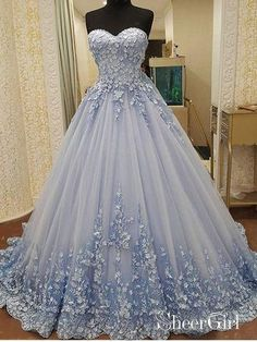 Prom Dress Princess, Elegant Tulle Evening Dress, Sexy Ball Gown Appliques Prom Dresses, Formal Evening Gown Shop ball gown prom dresses and gowns and become a princess on prom night. prom ball gowns in every size, from juniors to plus size. Cute Prom Dresses, Elegant Prom Dresses, Pretty Dresses, Sexy Dresses, Evening Dresses, Wedding Dresses, Dress Prom, Formal Dresses, Gown Wedding