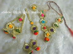 Gota jewellery set for  mehndi/maayon  http://www.facebook.com/pages/Rainbow-Dazzle/461994940500930