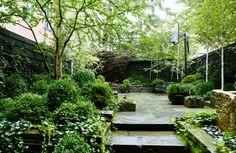Lush garden courtyard + Photography by: Christopher Banks + http://christopherbakerphoto.com/#/portfolio/gardens-houses