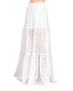 KATYA DOBRYAKOVA SWING SKIRT SS 2016 Long lace skirt elastic waist underskirt made in Russia 100% Cotton