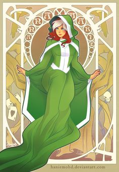 Rogue - Superheroines' dresses: Art Noveau by Hanie Mohd