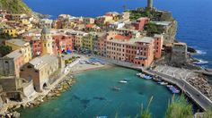 UNESCO-VERNET: Cinque Terre er et Unesco-vernet område bestående av fem fiskerlandsbyer i Genovabukta, i Liguria på Italias vestkyst. Foto: INGE JOHNSSON / AGE / NTB SCANPIX