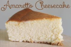 Seriously the best cheesecake on the planet- be prepared to make this recipe over and over again! Almonds in the crust and amaretto in the cake make this cheesecake absolutely amazing! @allrecipes