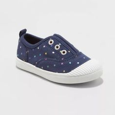 Toddler' Archer Slip-On Sneakers - Cat & Jack™ Navy 6 : Target Slip On Sneakers, Slip On Shoes, Toddler Shoes, Baby Shoes, Leopard Print Sneakers, Closed Toe Shoes, Baby Shoe Sizes, Whimsical Fashion, Childrens Shoes