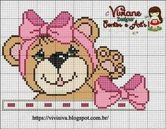 Cross Stitch For Kids, Cross Stitch Borders, Cross Stitch Charts, Cross Stitch Patterns, Crochet Flip Flops, Valentine Gift Baskets, Graph Crochet, Cross Stitch Collection, Decoupage Vintage