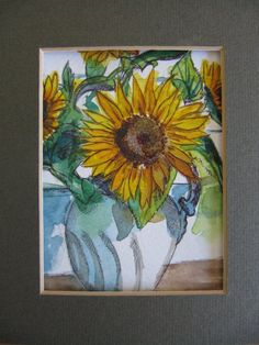 Sunflowers watercolour painting. £25.00, via Etsy.