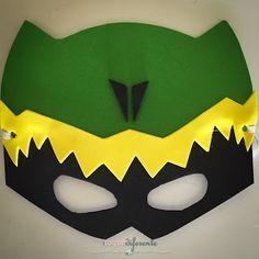 Aniversário Power Rangers - Parte II Máscara em EVA dos Dino Charge para lembrancinha de aniversário Power Rangers Party - Dino Charge mask for party favors