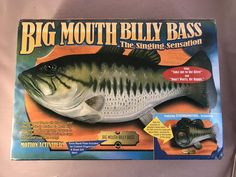Original 1998 Big Mouth Billy Bass Singing Fish Motion Activated Wall Plaque NIB #Gemmy