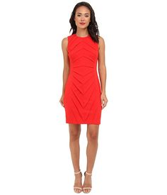 Calvin Klein Textured Ponte Dress Fire - Zappos.com Free Shipping BOTH Ways