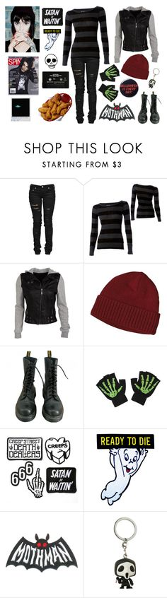 """""""Monsters Are Pretty Cool."""" by waywardghost69 ❤ liked on Polyvore featuring Denim of Virtue, Billabong, Patagonia, Dr. Martens, Hot Topic, Funko, CASSETTE, Lauren Ralph Lauren, emo and alternative"""