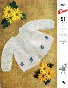 Emu 8484 matinee coat vintage baby crochet pattern 5024723915200 on eBid United Kingdom