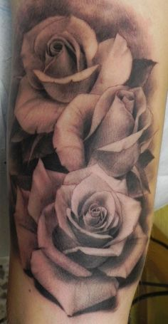 Chic flower sleeve watercolor tattoo on arm for girls