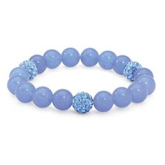 Beaded Agate and Simulated Birthstone Stretch Bracelet 8 ($23) ❤ liked on Polyvore featuring jewelry, bracelets, jewelry & watches, rings, artificial jewelry, imitation jewellery, stretch jewelry, beading jewelry and imitation jewelry