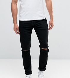 ASOS TALL Skinny Jeans With Knee Rips. #clothestobuy #mensstyle #urbanstyle #fresh