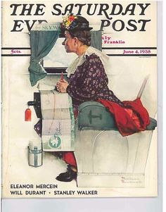 The Saturday Evening Post June 4 1938 Cover by Norman Rockwell Vintage Birthday