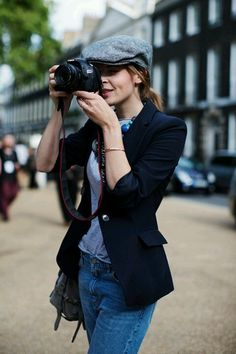 Clemence Posey making old school hats look good