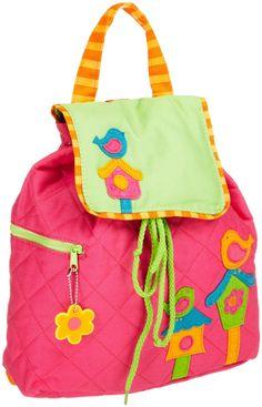 Stephen Joseph Girls bird Quilted Backpack