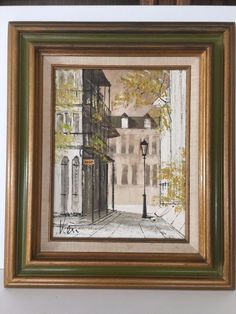 Knut Engelhardt Original Oil Painting on Canvas Landscape New Orleans, Signed