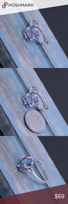 """950 Sterling & Light Blue Topaz Ring Stamped """"950"""". Higher sterling finesse.  This is not a stock photo. The image is of the actual article that is being sold  Sterling silver is an alloy of silver containing 92.5% by mass of silver and 7.5% by mass of other metals, usually copper. The sterling silver standard has a minimum millesimal fineness of 925.  All my jewelry is solid sterling silver. I do not plate.   Hand crafted in Taxco, Mexico.  Will ship within 2 days of order. Jewelry Rings"""