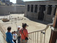 Temple Esna, usually our first port of call when sailing down the Nile from Luxor to Aswan.  There's something about this moment as we descend the stairs toward the temple.  It draws you into the expectancy of being a part of the creation on the great potters wheel of the god Knum