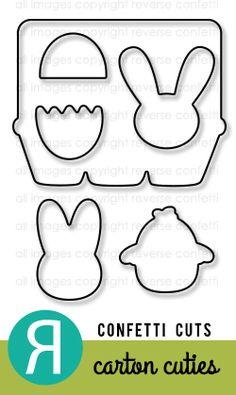 Carton Cuties Confetti Cuts by Reverse Confetti (March2014 release). Coordinates with Carton Cuties stamp set.