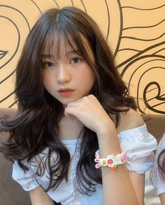 Unique Braided Hairstyles, Hairstyles With Bangs, Pretty Hairstyles, Girl Hairstyles, Cute Asian Girls, Beautiful Asian Girls, Cute Girls, Ulzzang Girl, Ulzzang Fashion