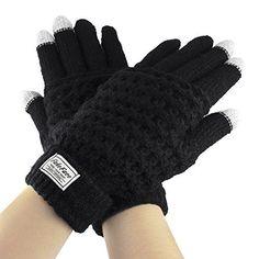Touch Screen Gloves, Women Girls Boys Winter Thick Wool K...