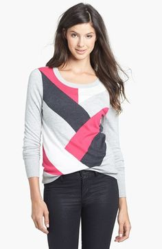 Halogen® Pattern Sweater (Regular & Petite) available at #Nordstrom