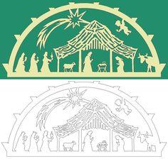 Schwibbogen-Vorlage: Stern über Bethlehem • EUR 3,50 - PicClick DE