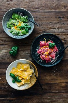 Homemade Beet, Butternut Squash, and Spinach Ravioli with Orange Butter Sauce — Madeline Lu