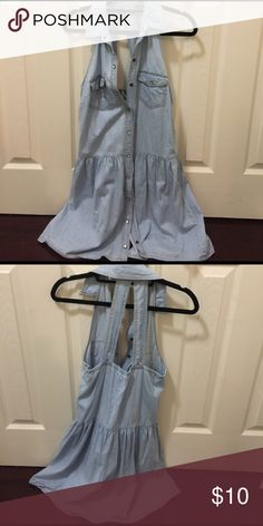 Snap button denim summer dress Snap button down. Denim dress. Perfect for summer! Forever 21 Dresses